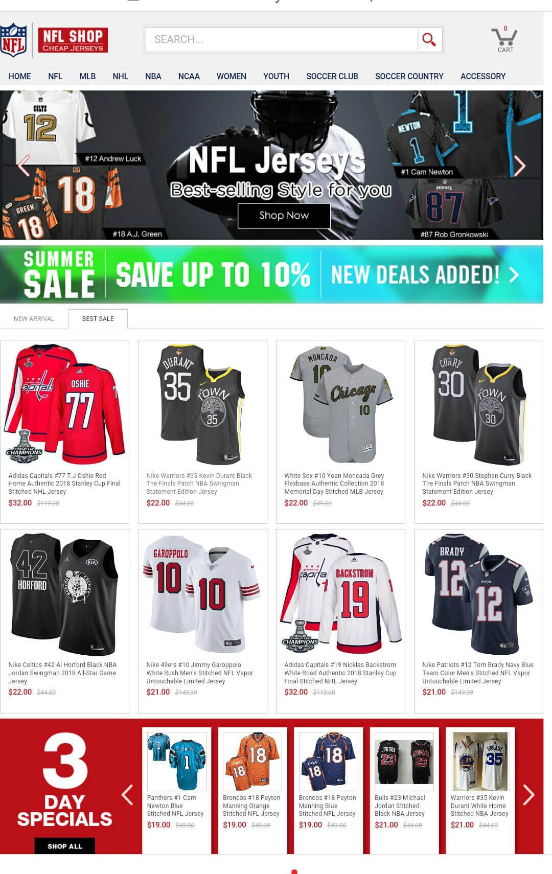 Jerseys Online Store